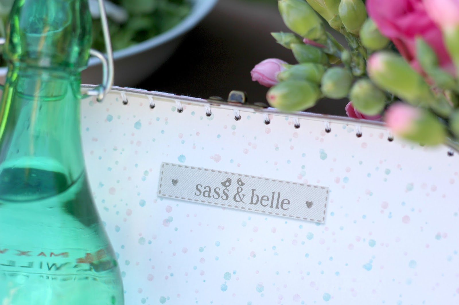 Sass & Belle pastel coloured suitcases