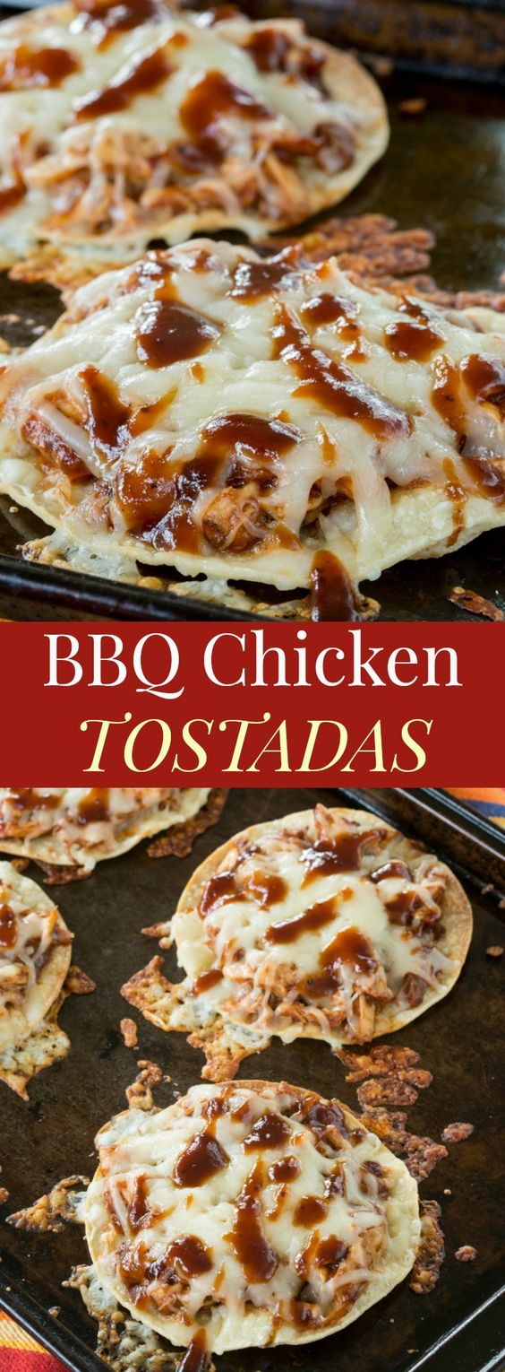 BBQ Chicken Tostadas #american #lunch #dinner