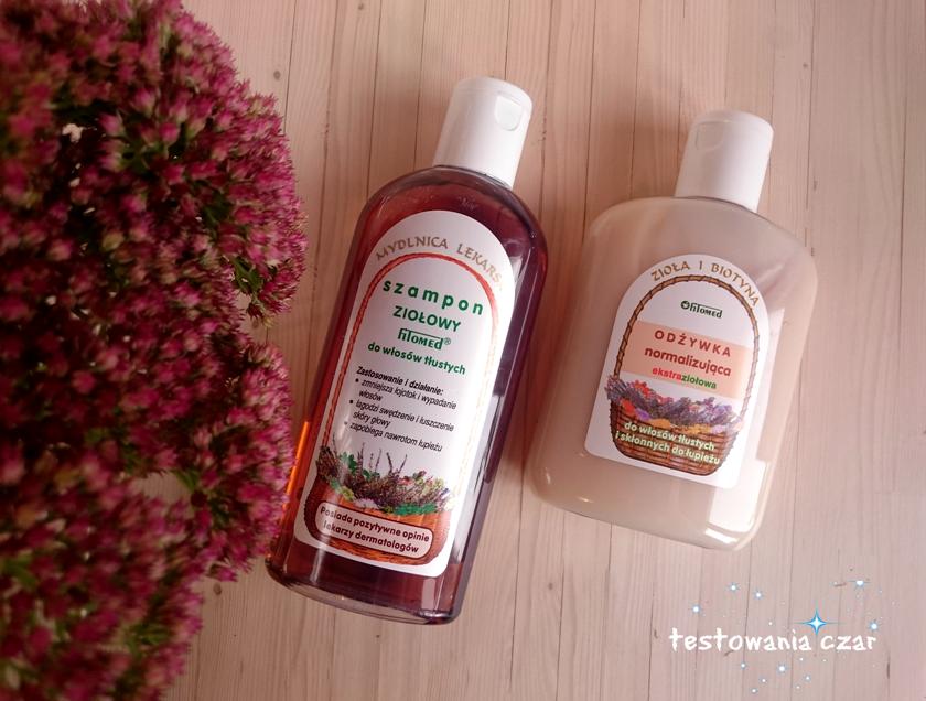 Ziołowy szampon i odżywka Fitomed, mój sposób na łupież i przetłuszczające się włosy