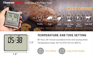 Thermopro TP16 Large LCD Digital Cooking Meat Food Thermometer
