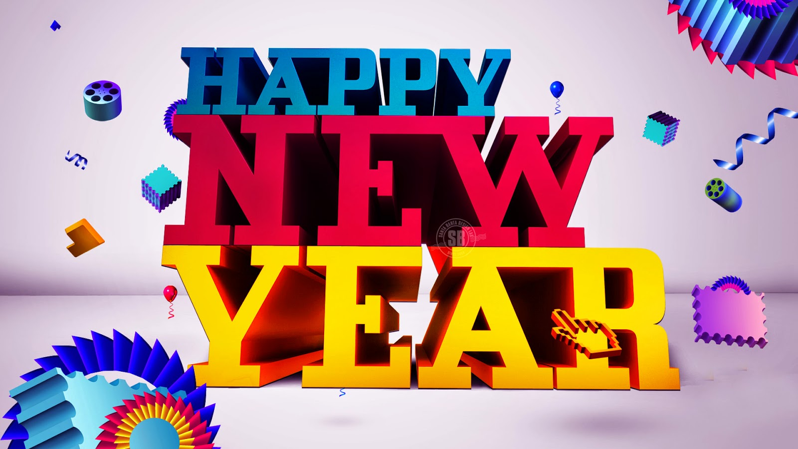 Happy New Year 2016 3D Images Free Download