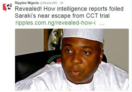 How intelligence reports foiled Saraki's near escape from CCT trial – Ripples
