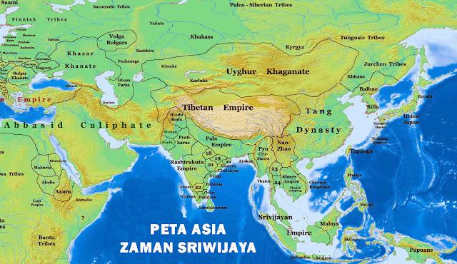 Gambar Peta Asia Kuno Zaman Sriwijaya