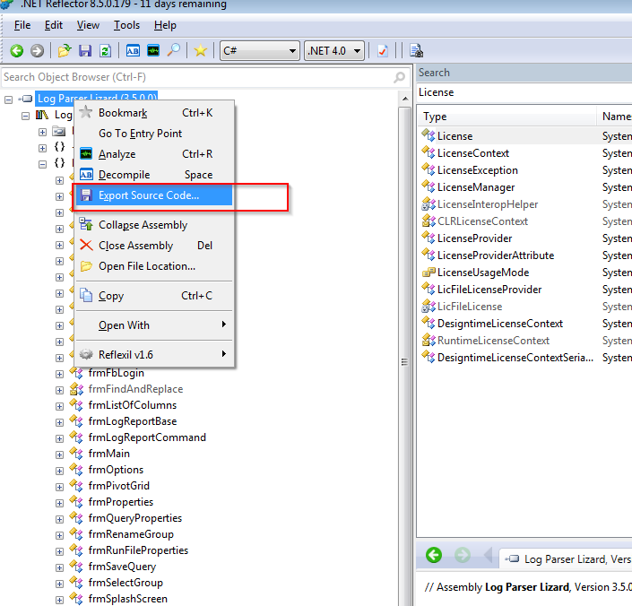 IT-Security: Reversing  NET applications