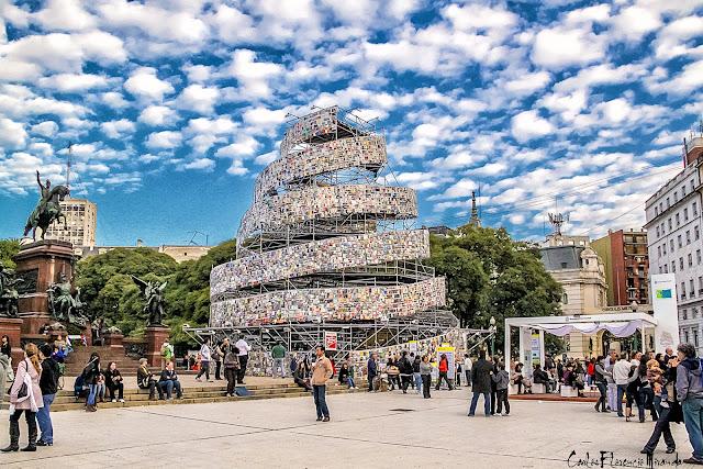 Plaza San Martin y la Torre de Babel, Buenos Aires,Argentina