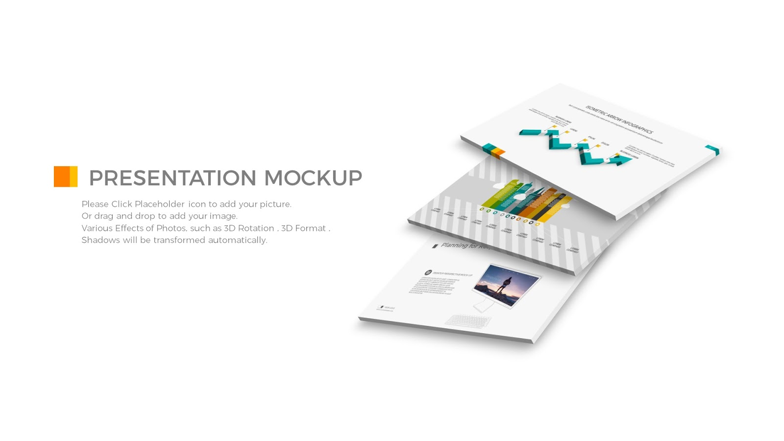 Free Perspective Powepoint Presentation Mock Up Templates