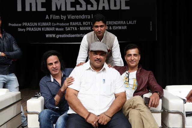 Rahul Roy, Vierendrra Lalit, Narendra Jha, Trivikram Mattoo (back)