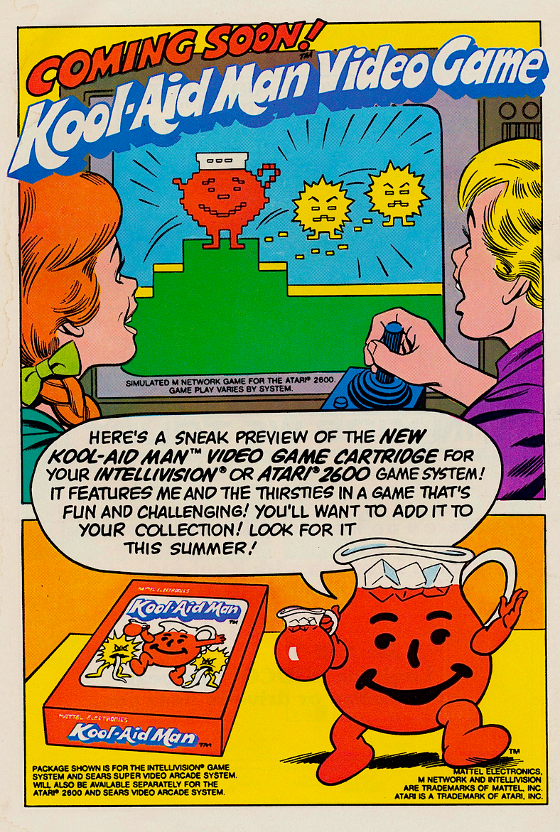 Kool Aid Man Comic Book Amp Video Game 1983 Snaxtime