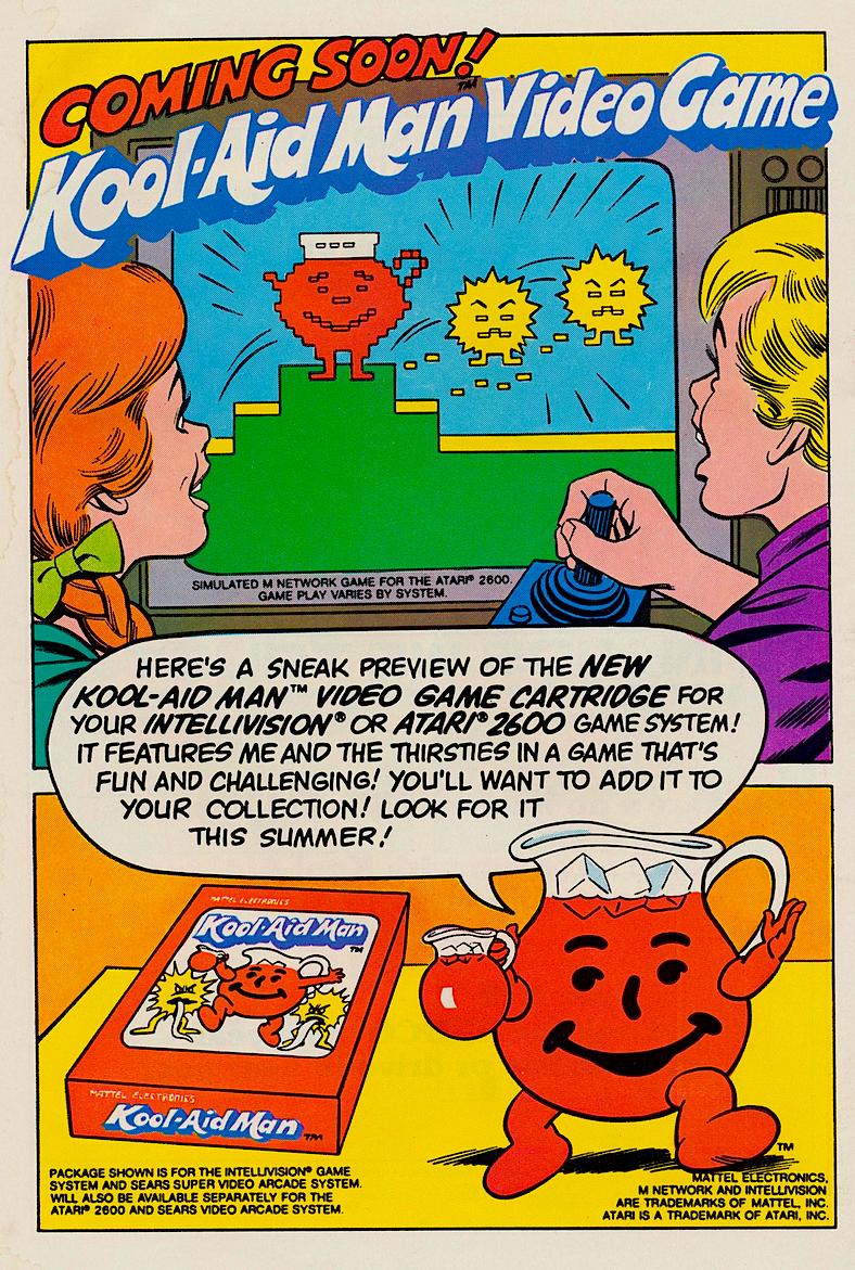 KoolAid Man Comic Book  Video Game 1983  Snaxtime