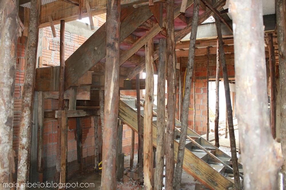 construção escada