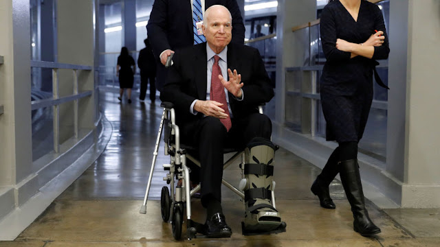 Senator John McCain has a viral infection and is also being treated for brain cancer