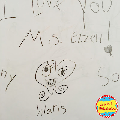 second grade notes to the teacher