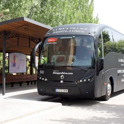la roca village bus plaça catalunya