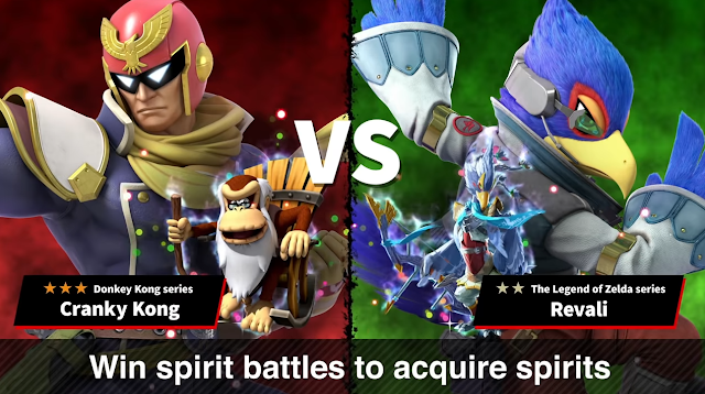 Super Smash Bros. Ultimate spirit battles Falco Revali Cranky Kong Captain Falcon