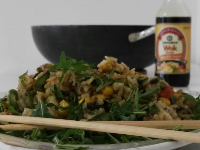 würziger Reis mit frischem knackigem Gemüse