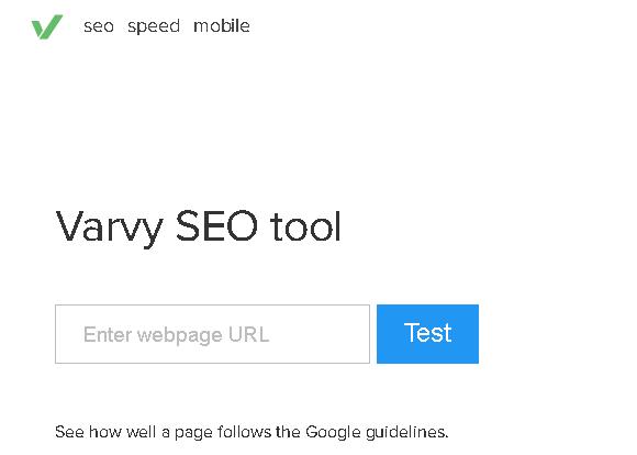 Varvy Tools Gratis Untuk Memeriksa Kecepatan dan Kinerja Blog