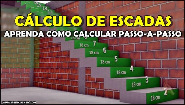 calculo de construção de escadas