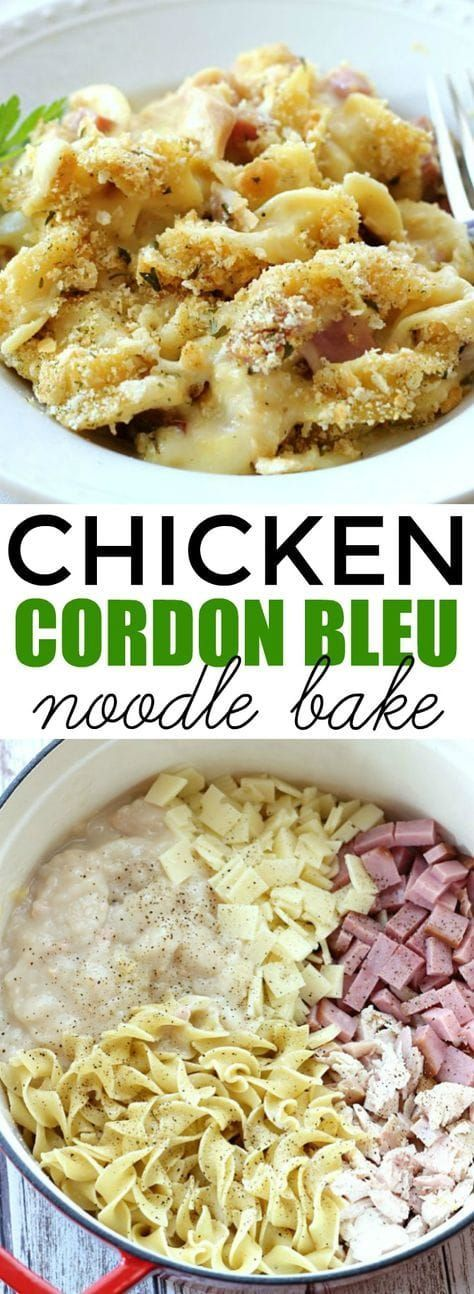 Chicken Cordon Bleu Noodle Bake