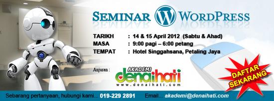 Seminar WordPress Akademi Denaihati