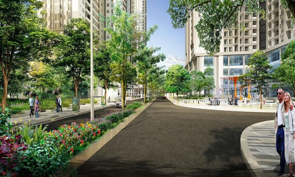 Con đường lễ hội tại dự án Goldmark City 136 Hồ Tùng Mậu