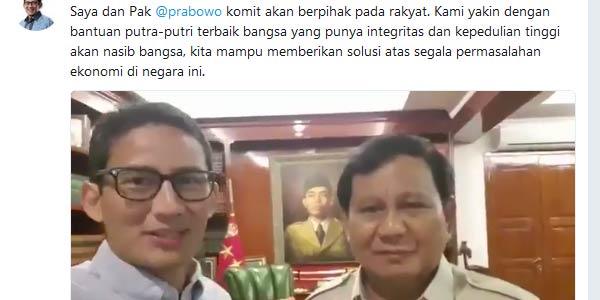 Jelang Penetapan, Prabowo-Sandi Buat Video Begini