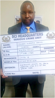 Here is the  PHOTO  of the man arrested by DCI detectives for swindling Kenyans looking for jobs in Qatar.