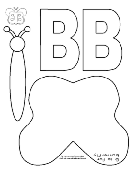 letter b activities free for butterfly cut and paste 22768