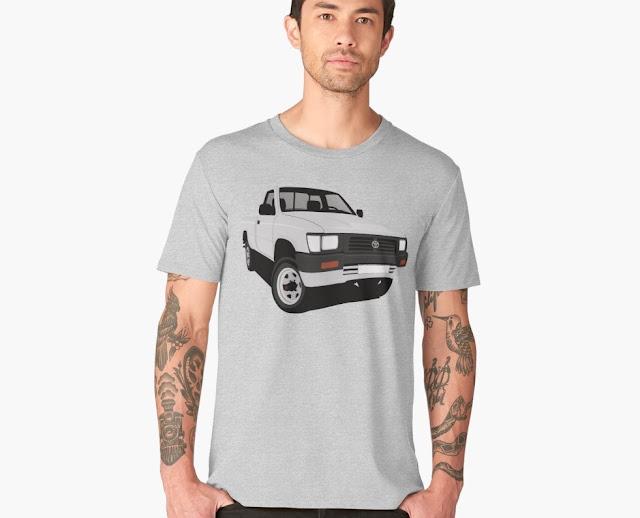 90-luvun Toyota Hilux lava-auto t-paita