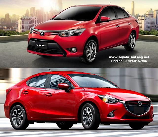 toyota vios mazda 2 sedan 2015 - So sánh Mazda 2 sedan và Toyota Vios tại Việt Nam : Đối thủ xứng tầm - Muaxegiatot.vn