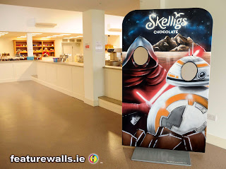 STAR WARS  interactive promotional mural hand painted by featurewalls.ie mural professionals  based in ireland