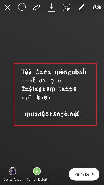 Cara Mengubah Font Di Bio Instagram Tanpa Aplikasi