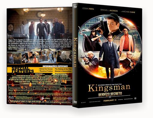 DVD-R Kingsman Serviço Secreto – OFICIAL – BÁU DO JF HD