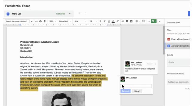 essay google classroom