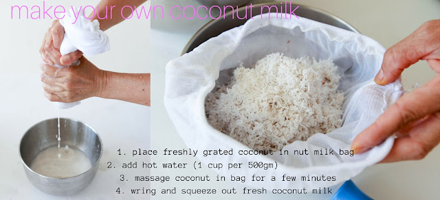 How to make your own coconut milk with freshly grated coconut