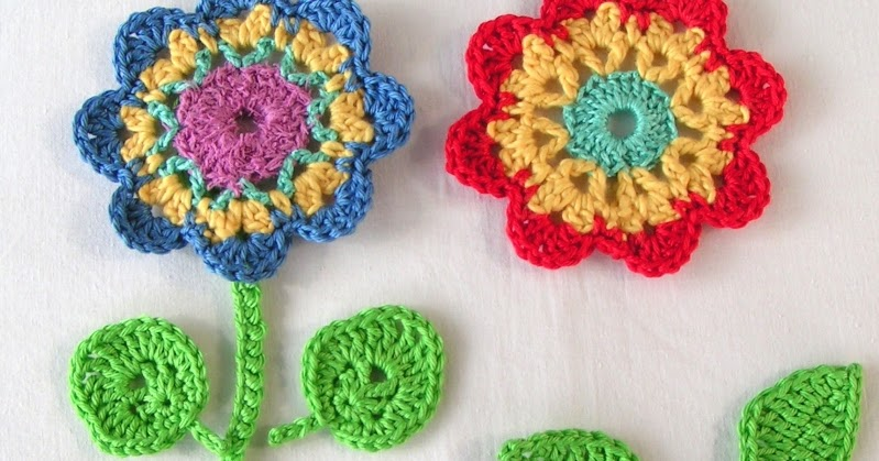 Mami Made It Crochet Flowers And No Chain Crochet Häkelblume Und