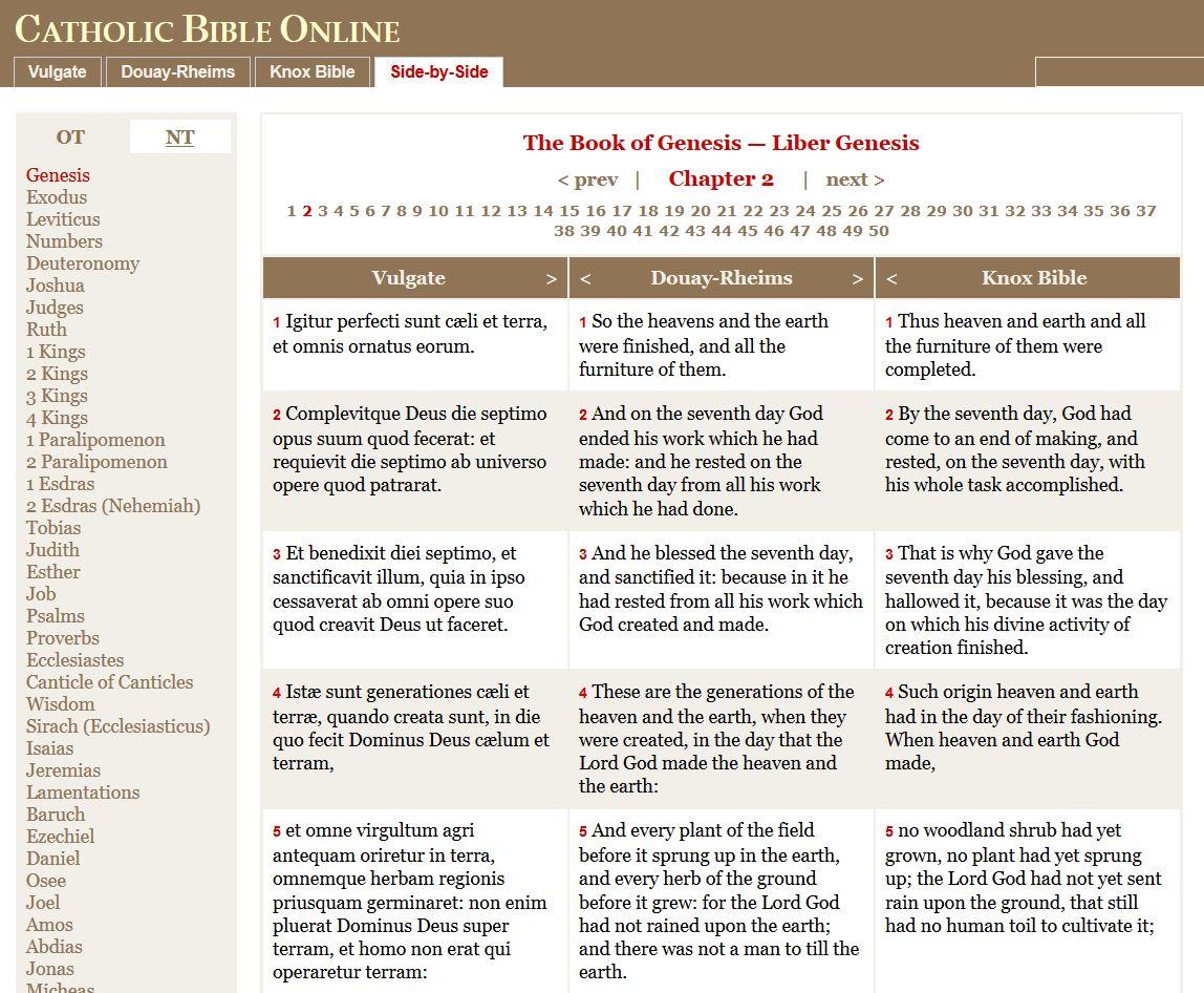 rorate cæli catholic bible online the douay rheims knox and
