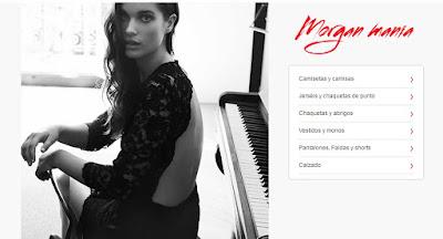 detalle de las secciones de la oferta de moda mujer marca Morgan