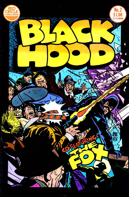 Black Hood v1 #2 red circle comic book cover art by Alex Toth