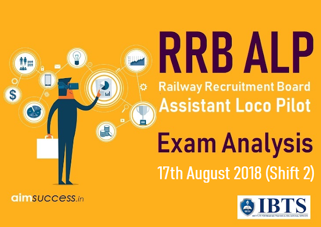 Railway RRB ALP Exam Analysis 17th August 2018 (Shift 2)
