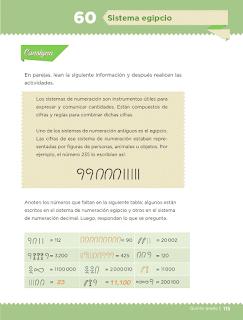 Respuestas Apoyo Primaria Desafíos Matemáticos 5to Grado Bloque IV Lección 60 Sistema egipcio