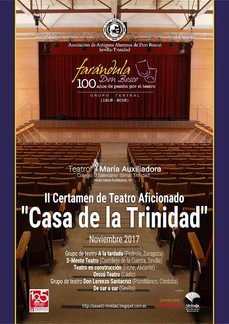 """CERTÁMENES DE TEATRO - """"Casa de la Trinidad"""" Noviembre 2017"""