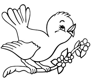 Spring Cute Bird Song Coloring Pages for Preschool