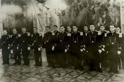Presentation of new Polish Naval Officers to President on Oct 15, 1936 Warsaw Castle