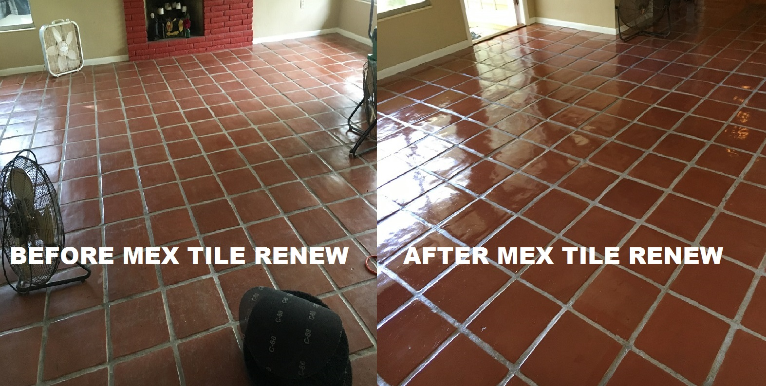 Tile cleaning stripping and sealing mexican tile sarasota mexican tile renew project in sarasota fl with light colored grout never clean your mexican tile floor with vinegar it will ruin the finish and darken the doublecrazyfo Gallery