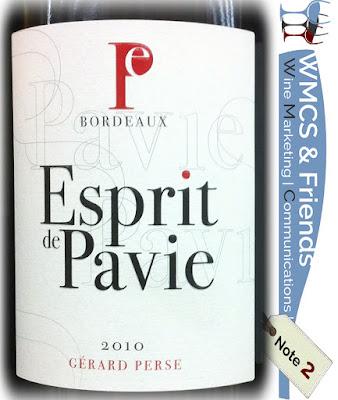 Esprit de Pavie Bordeaux 2010