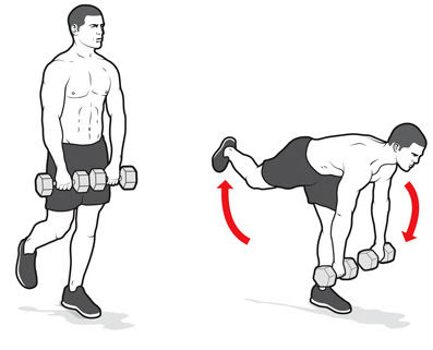 one leg dead lift movement,workouts for strong back
