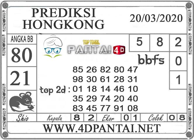 PREDIKSI TOGEL HONGKONG PANTAI4D 20 MARET 2020