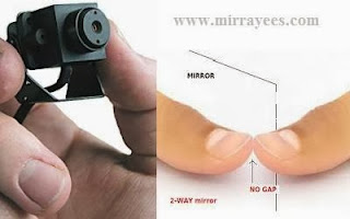 hidden camera and two way mirror