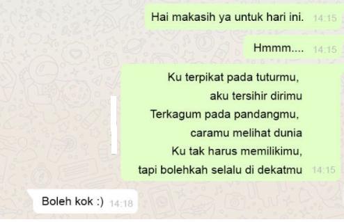 Kumpulan chat WA (Whatsapp) Romantis dengan Pacar