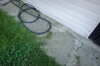 back walk walkway concrete broken path